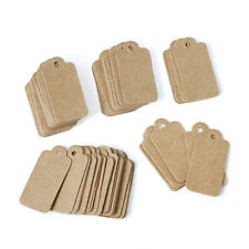 500PCS Kraft Rectangle Paper Price Tags For Jewelry Display BurlyWood 30x15mm