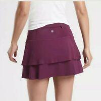 New  Athleta Momentum tennis skirt Skort Plum Size Small