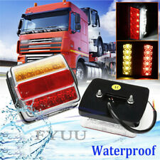 2 Pcs Waterproof 16LED Autos Trailer Rear License Plate Marker Lights Tail Lamps