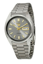 Seiko 5 SNXS75 Men's Stainless Steel Grey Dial Day Date Automatic Watch