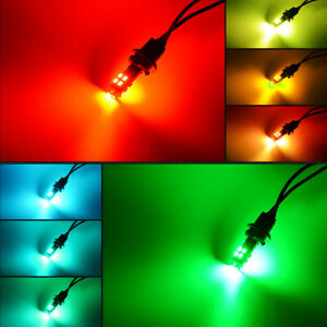 RGB 168 194 T10 LED Bulbs w/RF Remote Control For Car Parking Lights Accessories