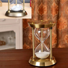 Retro Bronze Sand Glass Timer Hourglass Time Sandglass Home / Office Decor Gift