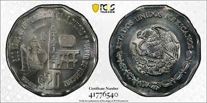 ER045 MEXICO. Mint Error -- Off-Metal Strike on Silver -- 20 Pesos, 2019-Mo.