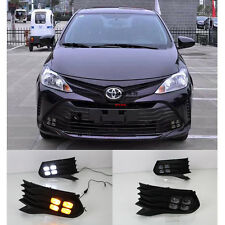 LED DRL Daytime Running Lights Day  Lamp For TOYOTA VIOS 2016-2017
