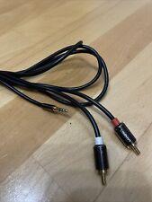 2m - High-End Klinke Cinch Aux Audio Kabel 3,5mm Klinkenst.auf 2 Cinch RCA St.