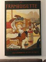 Mid Century Large 'FRAMBOISETTE LIQUEUR' _Vintage Oil Painting