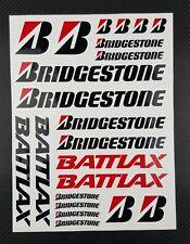 Bridgestone Battlax Sponsors decals set 9x12'' 22 stickers race track gp honda