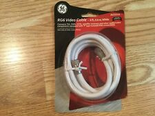 New listing Ge Rg6 White Video Cable Av23310, 6 Ft (1.8 M) Connects Tvs Vcrs Etc, New Sealed