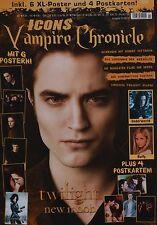 TWILIGHT - Icons Vampire Chronicle Magazin 01/2010 + Poster - Clippings Sammlung