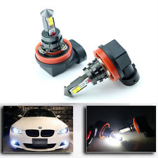 2x No Error LED Bright White H11/H8 20W DRL Fog Lights For BMW E90 325 328 335i