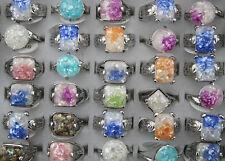 Free Ship Bulk jewelry lots 8pcs Resin Shell Fashion Charm Colorful Women rings
