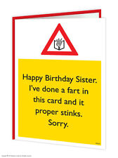 BrainBox CANDY Sister SIS Cumpleaños Tarjetas de felicitación Grosero Gracioso