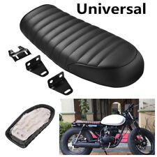 High Quality Synthetic Leather Motorcycle Cafe Racer Seat Flat Saddle Waterproof
