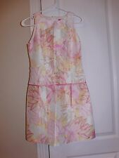A.B.S. ALLEN SCHWARTZ SLEEVELESS DROP WAIST DRESS 100% SILK SIZE 2 MADE IN USA