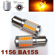 1156 BA15S 180° 7506 P21W 33 SMD samsung LED Amber Backup Reverse M1 For BMW R