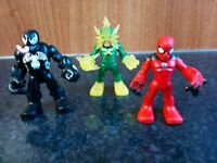 Imaginext Marvel Super Hero Squad Venom, Electra & Spider-man Figure Bundle