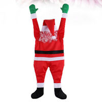 Christmas Santa Suit Gutter Hanging Santa Claus Creative Party Decoration for Ya