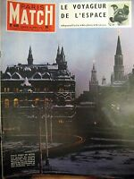 PARIS MATCH N° 449 RUSSIE MOSCOU ARMEE ROUGE SPOUTNIK LAÏKA FLEUVE NIGER 1957