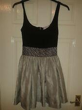 Womens Sleeveless Dress - Romeo & Juliet Couture - Black & Silver - Size M