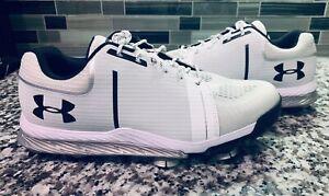 Under Armour Tempo Sport Golf Shoes White/Silver/Black Spieth (1288576-101)
