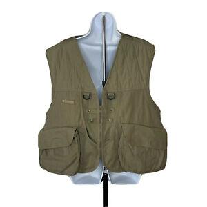 Columbia Sportswear Mens Fishing Vest Size XL Olive Green