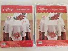 Craftways Stamped Cross Stitch Kits Table Topper and Runner