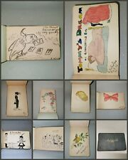 More details for 1911 sketch autograph book album art paintings drawings poems pictures pre war