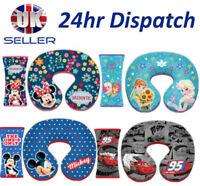 Kids Travel Neck Pillow / Seat Belt Cover Disney CARS FROZEN MINNIE MICKEY STAR