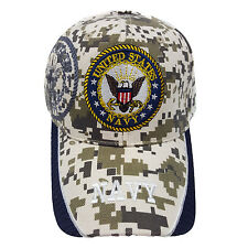 US Military Navy Digital Camouflage (Navy Blue Color Outer Brim ) Hat Cap