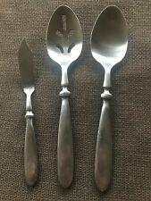 Cambridge TOWNHOUSE Flatware Silverware Stainless  2-Serving spoons+butter knife
