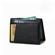 Men's Genuine Leather Slim Wallet Thin Credit Card Holder ID Case Purse Bag
