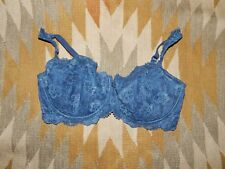 Victoria's Secret 36DD Blue Lacefront Bra w Under Wire Support