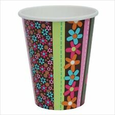 HIPPIE CHICK 9oz PAPER CUPS (8) ~ Birthday Party Supplies Beverage Drinking Girl