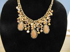 Chunky Resin Bead Multi Glass Drop Necklace & Earring Set Fashion Jewelery New