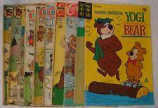 Vintage Lot Of 10 Comics   YOGI BEAR   Gold Key   Whitman   Charlton