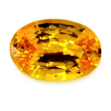 Certified Natural Ceylon Golden Yellow Sapphire 0.91ct VVS Clarity Oval Gem
