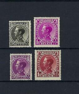 [LK19535] Belgium N°390/393 Royalty MH * COB € 44,00 SUPERB