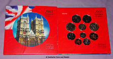 2003 ROYAL MINT BRILLIANT UNCIRCULATED SET OF COINS - 10 Coins