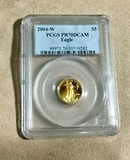 2004-W PCGS PR70 DCAM Eagle gold coin $5