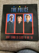 "the police dont stand so close to me 86 7"" vinyl record"