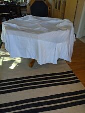 New listing White California King Bed Skirt With Pleats