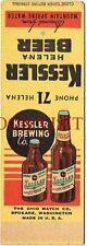 Scarce Montana 1930s Kessler Beer Matchcover Tavern Trove