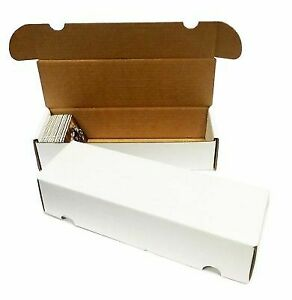 (50) MAX PRO CARDBOARD 500 / 550 CT. TRADING CARD STORAGE BOXES zx
