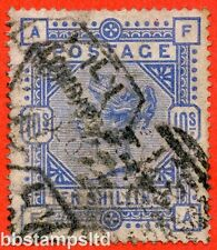 "SG. 182. K14 (1). "" FA "". 10/- Cobalt. A good used example."