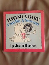 SIGNED! Joan Rivers 'Having A Baby Can Be A Scream' hardcover + extras! RARE!