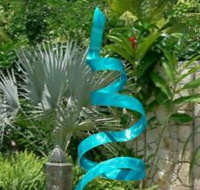 Large Beautiful Metal Sculpture Aqua Blue Indoor Outdoor Yard Decor by Jon Allen