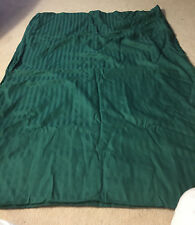 "Dark Green striped Duvet Cover! TWIN XL 94""  x  63"""