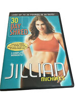 Jillian Michaels 30 Day Shred DVD 2008 Non Rental Like New 3 Complete Workouts