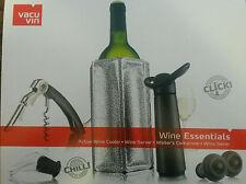 6 teilig Vacu Vin Geschenkset Wine Essentials schwarz Profi Basis Weinset