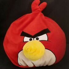 "Angry Birds Red Bird Plush Stuffed Animal Pillow Large Character 15"" Soft"